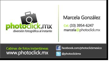 Información de contacto photoclick Guadalajara - Cel. 333 954 6247