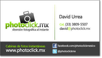 Información de contacto photoclick Guadalajara