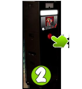 Paso 2 de operación cabina de fotos instantáneas photoclick