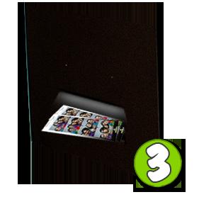 Paso 3 de operación cabina de fotos instantáneas photoclick