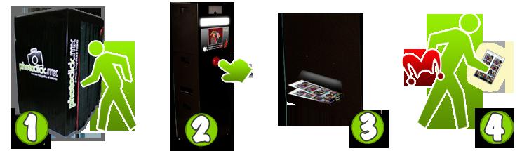 Pasos a seguir para usar la cabina de fotos Photoclick