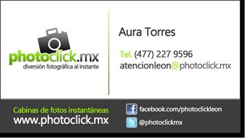 Información de contacto photoclick León - 477 227 9596