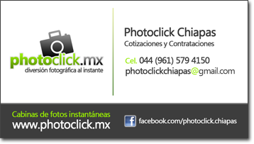 Información de contacto Photoclick Chiapas